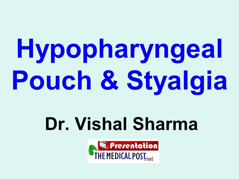 Hypopharyngeal Pouch & Styalgia Dr. Vishal Sharma