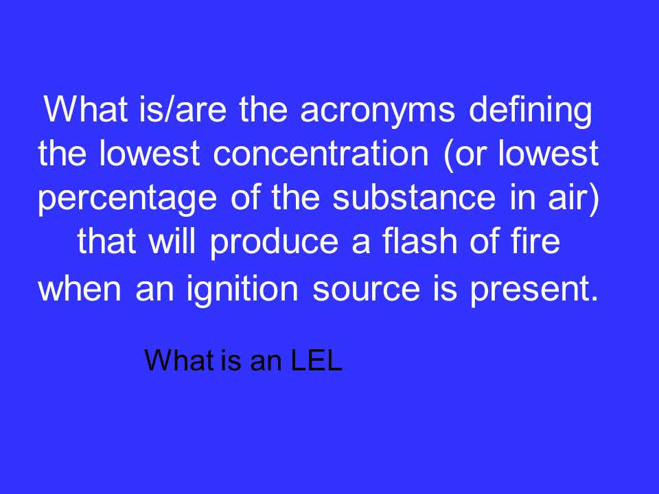 The acronym defining the lethal concentration of a substance being tested that will Kill 50% of a test population by Inhalation. What is an LC 50