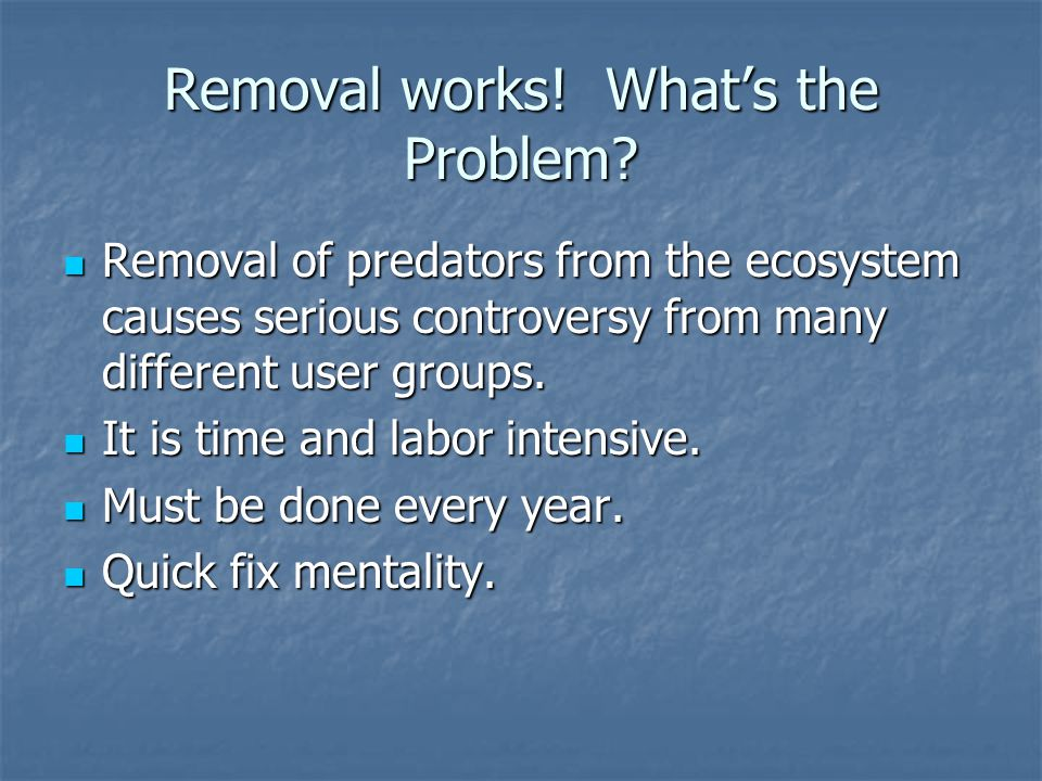 Removal works. What's the Problem.