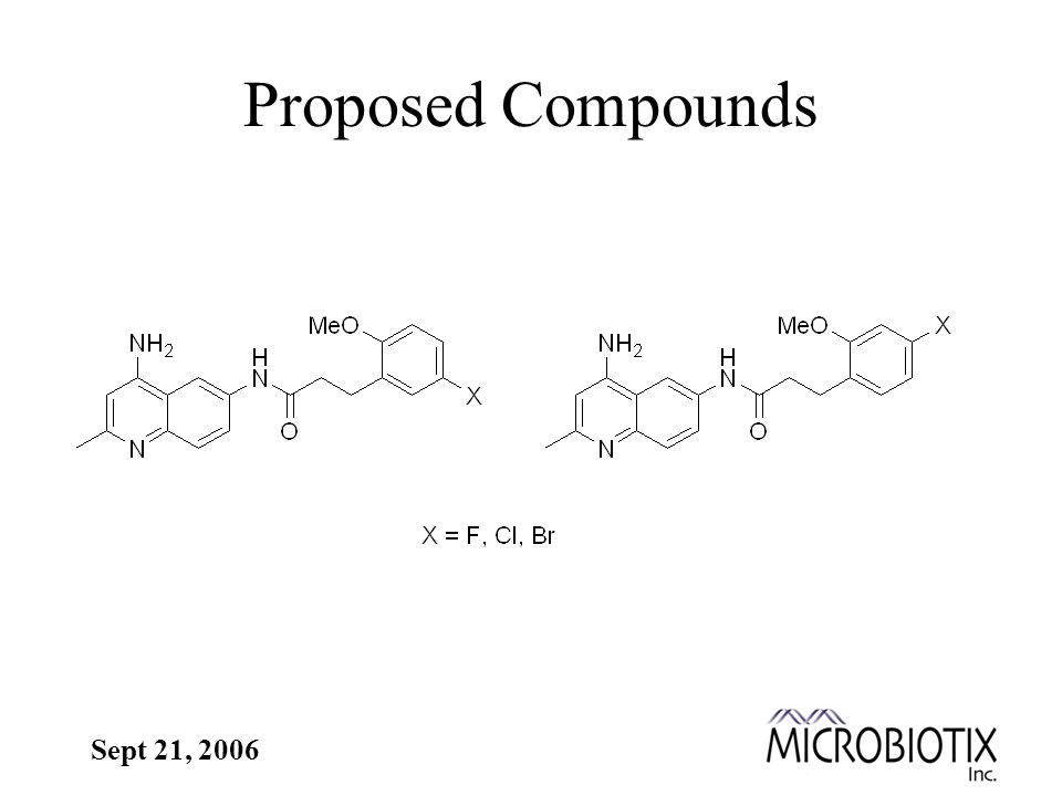 Sept 21, 2006 Proposed Compounds