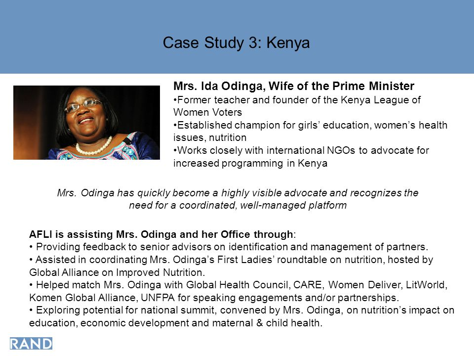 Case Study 3: Kenya Mrs.