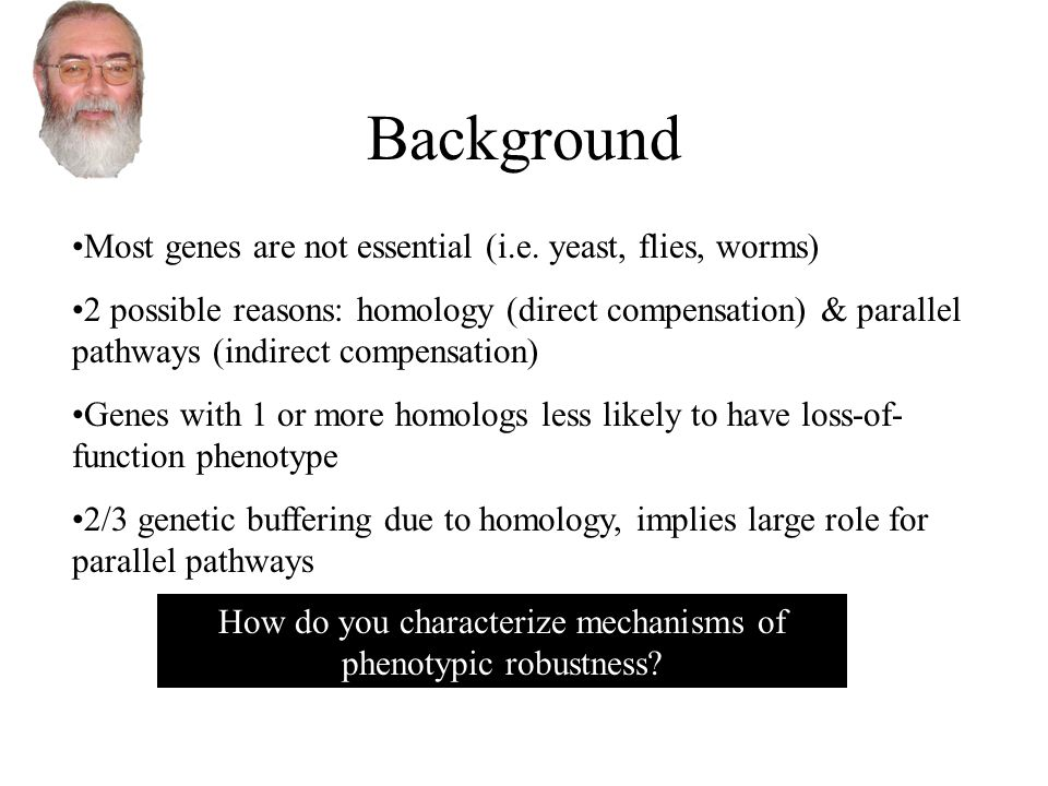 Background Most genes are not essential (i.e.