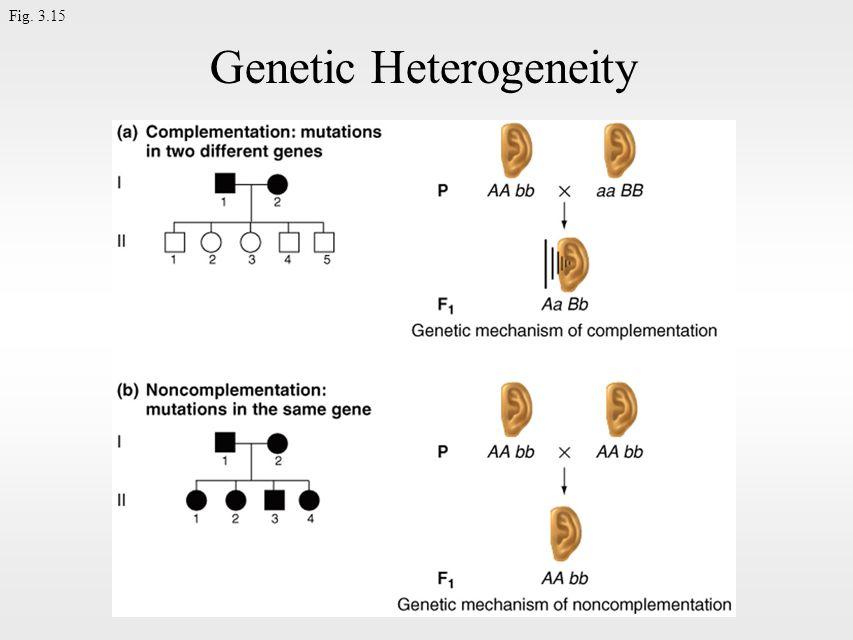 Fig. 3.15 Genetic Heterogeneity