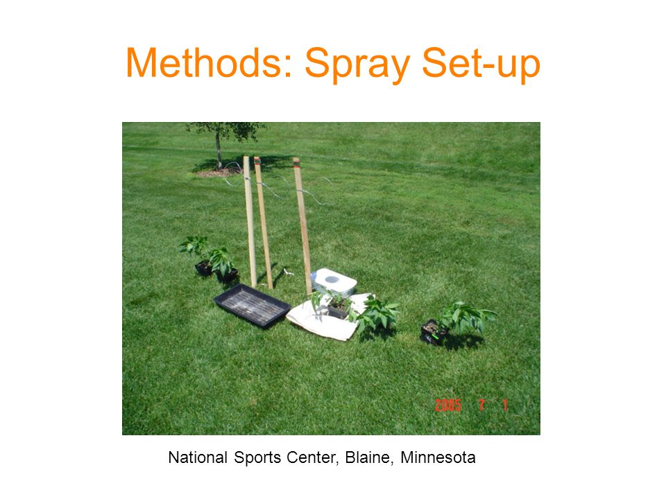 Methods: Spray Set-up National Sports Center, Blaine, Minnesota