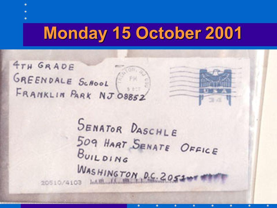 Monday 15 October 2001