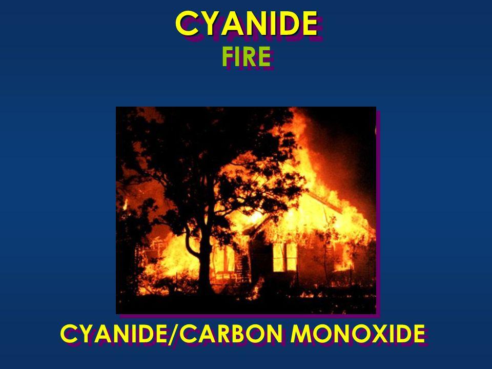CYANIDECYANIDE FIRE CYANIDE/CARBON MONOXIDE