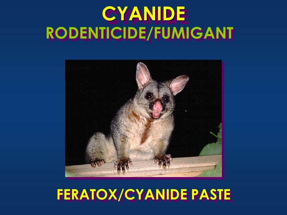 CYANIDECYANIDE RODENTICIDE/FUMIGANT FERATOX/CYANIDE PASTE