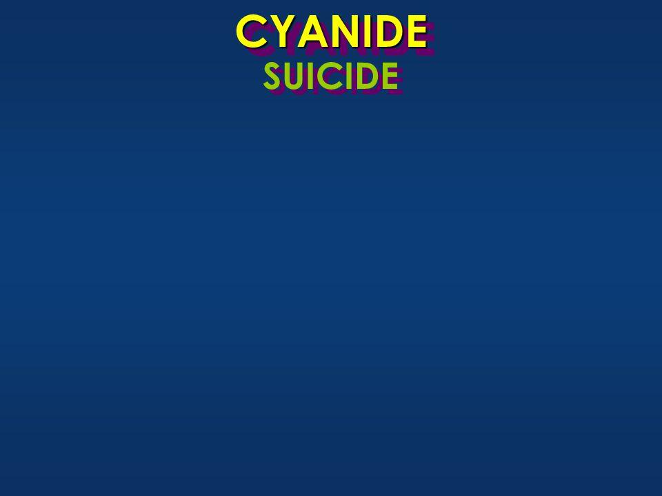 CYANIDECYANIDE SUICIDE