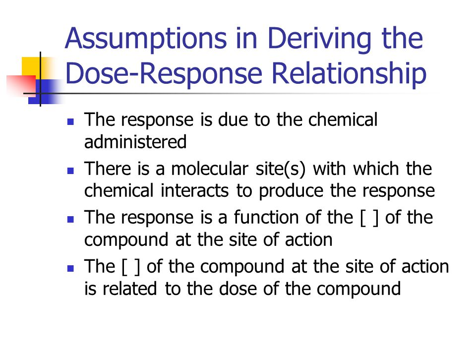 Acute Exposure - Continued If larger animals are used the dose is increased in the same animal until the prescribed endpoint is reached Endpoints could be Lethal dose (death) Toxic dose (ex.