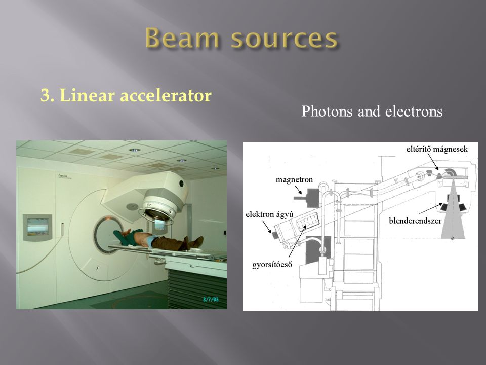 3. Linear accelerator Photons and electrons