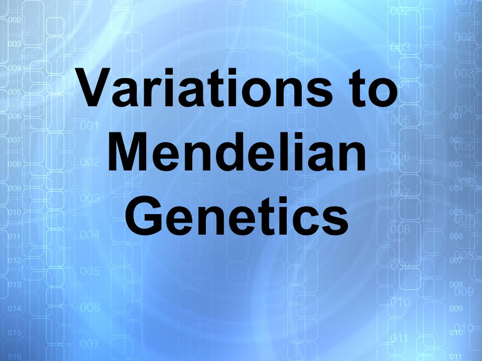 Not all genetic traits strictly follow the laws discovered by Gregor Mendel.