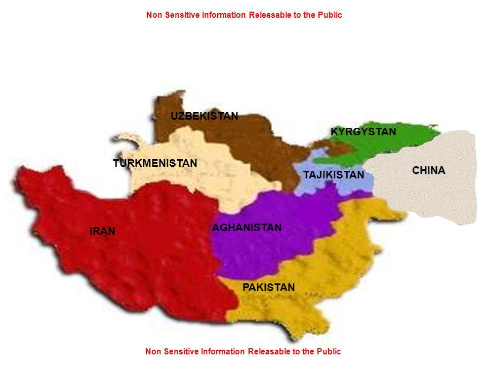 Non Sensitive Information Releasable to the Public IRAN AGHANISTAN PAKISTAN TAJIKISTAN UZBEKISTAN TURKMENISTAN KYRGYSTAN CHINA