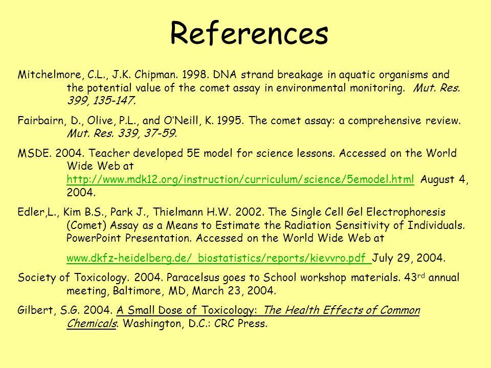 References Mitchelmore, C.L., J.K.Chipman. 1998.