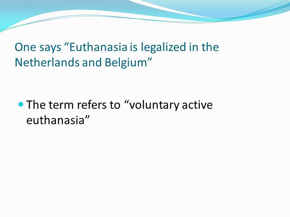 In public debates and in bioethics literature forgoing life-sustaining treatment (LST) is often considered as one form of euthanasia, labeled as passive euthanasia