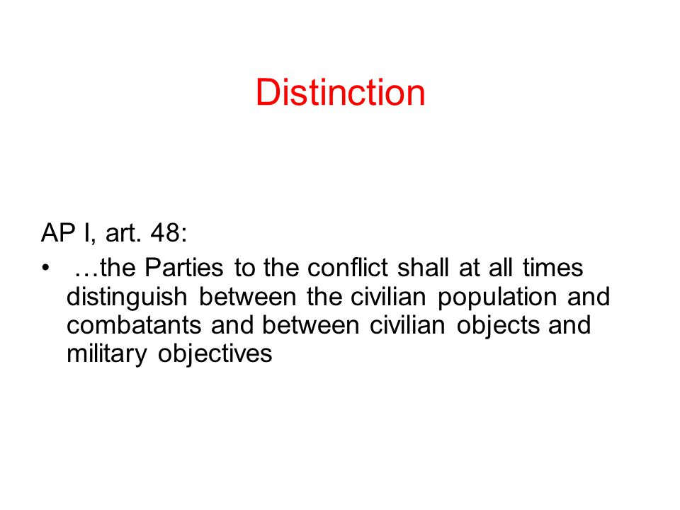 Distinction AP I, art.