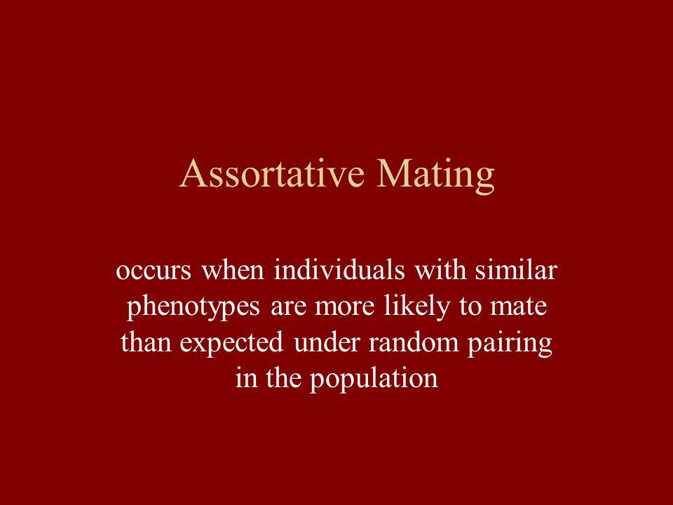 Assortative Mating Reynolds, R. Graham & Fitzpatrick, Benjamin M. Evolution 61 (9), 2253-2259.