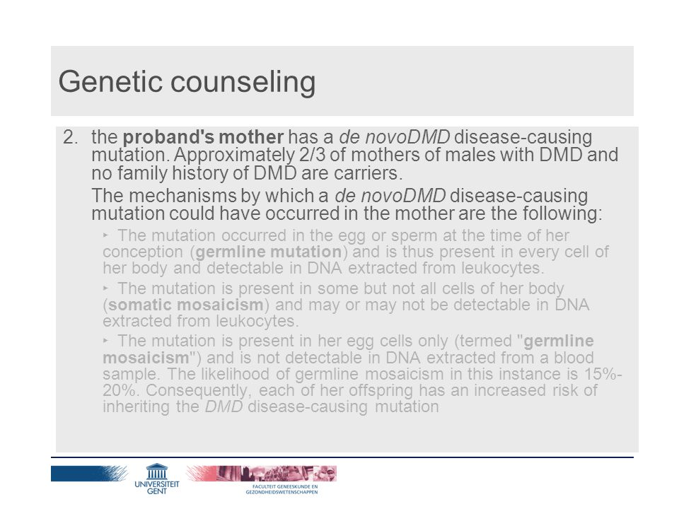Genetic counseling 3.