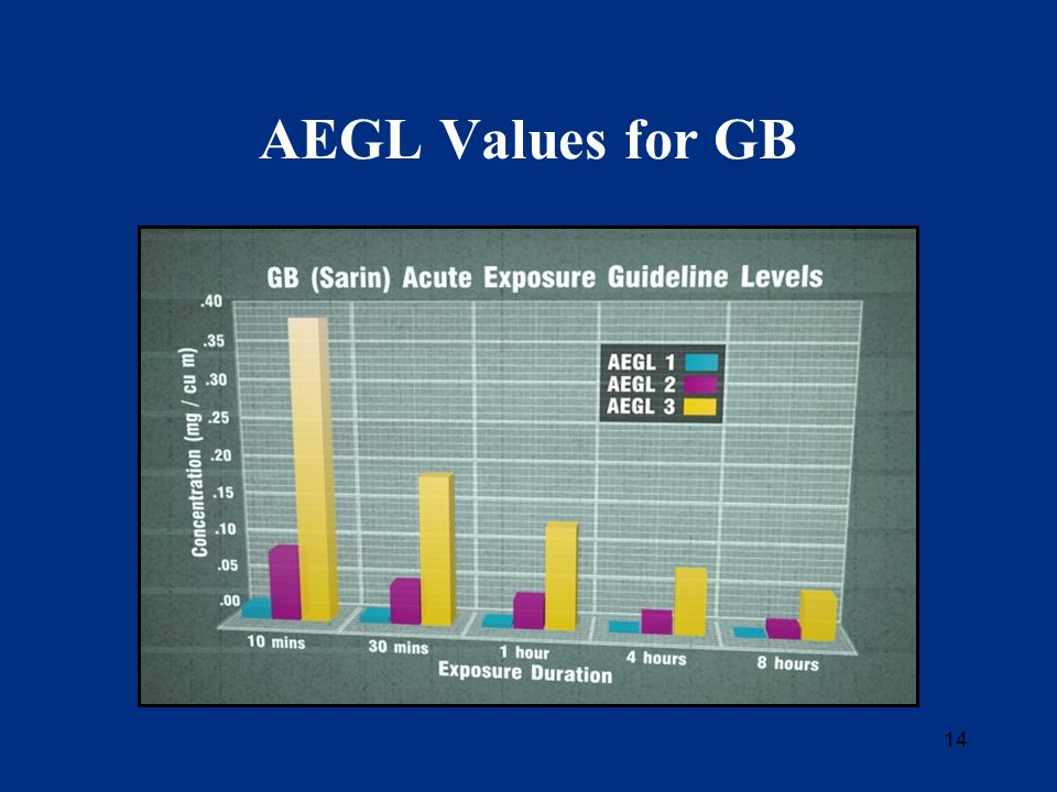 14 AEGL Values for GB