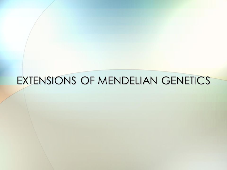 What happens when inheritance doesn't follow the patterns observed by Mendel.
