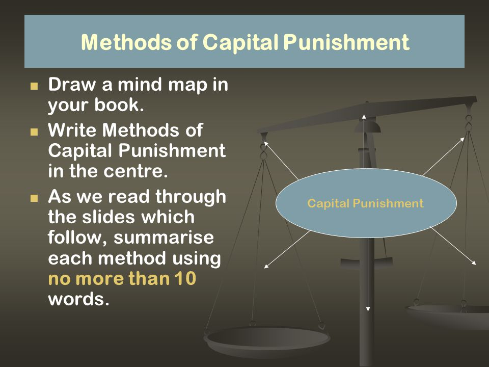 My opinion Do you agree/disagree with Capital punishment.