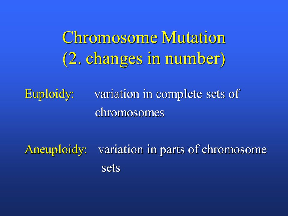 Chromosome Mutation (2.