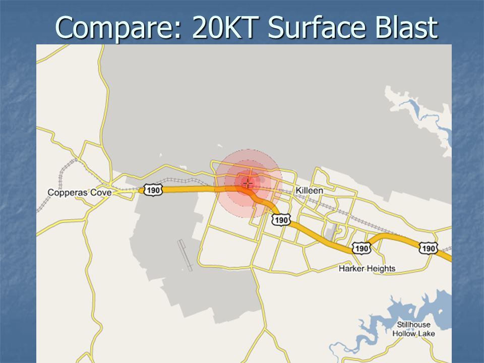 Compare: 20KT Surface Blast