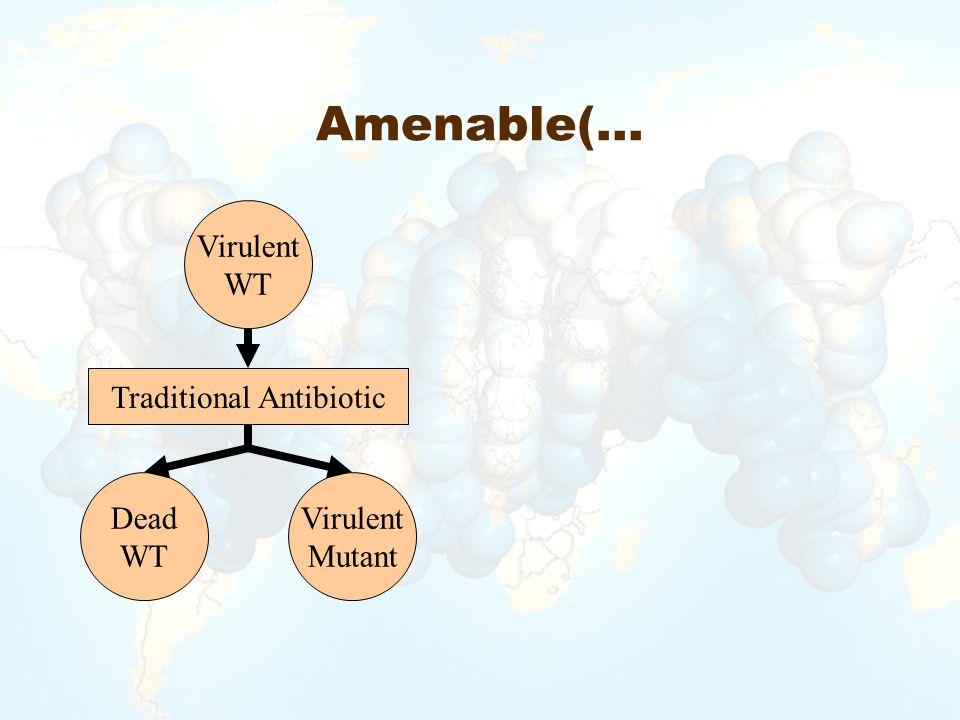 Amenable(… Virulent WT Dead WT Traditional Antibiotic Virulent Mutant