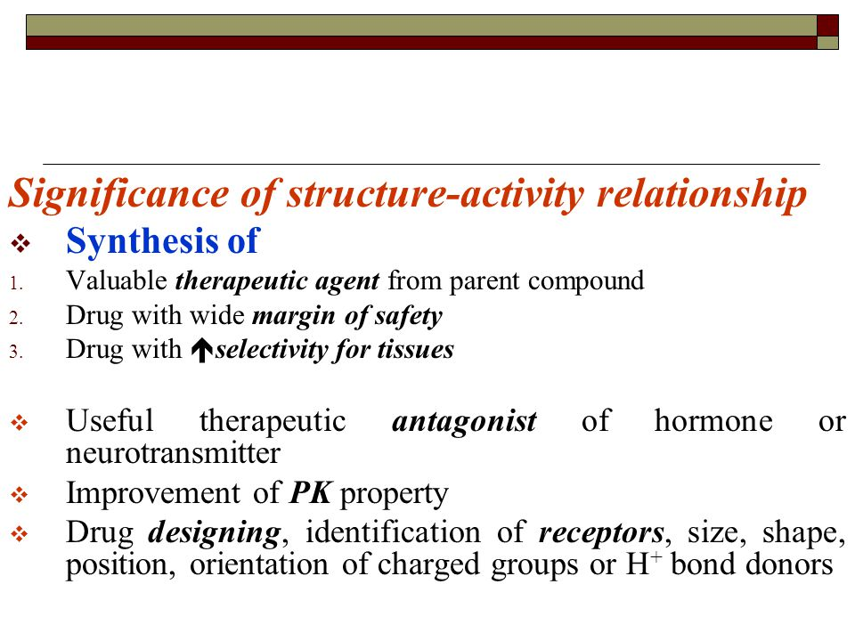 Significance of structure-activity relationship  Synthesis of 1.