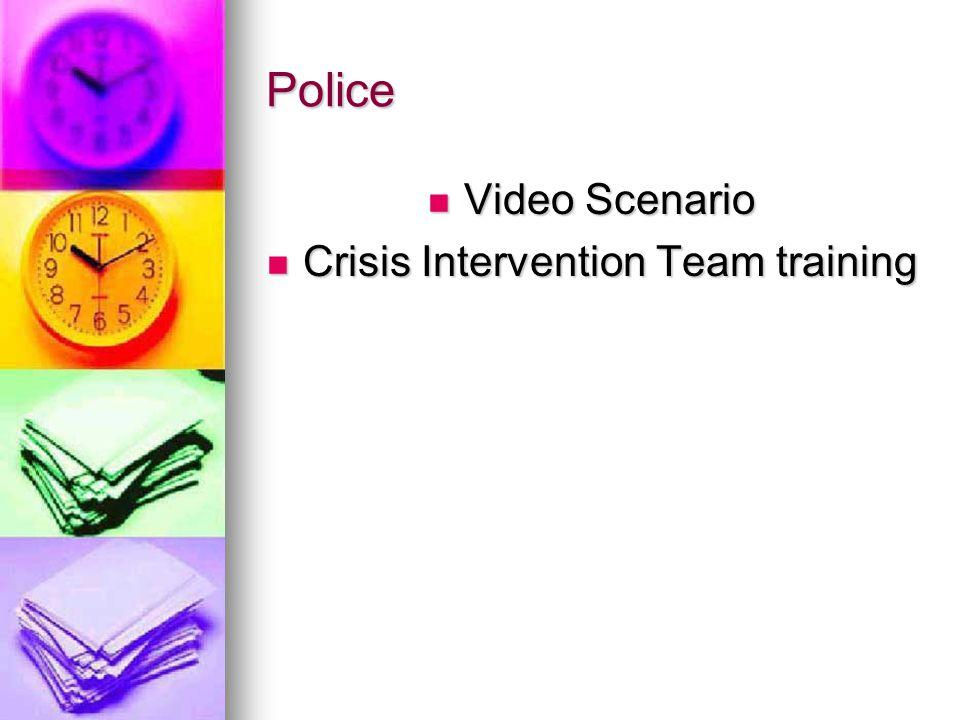 Police Video Scenario Video Scenario Crisis Intervention Team training Crisis Intervention Team training