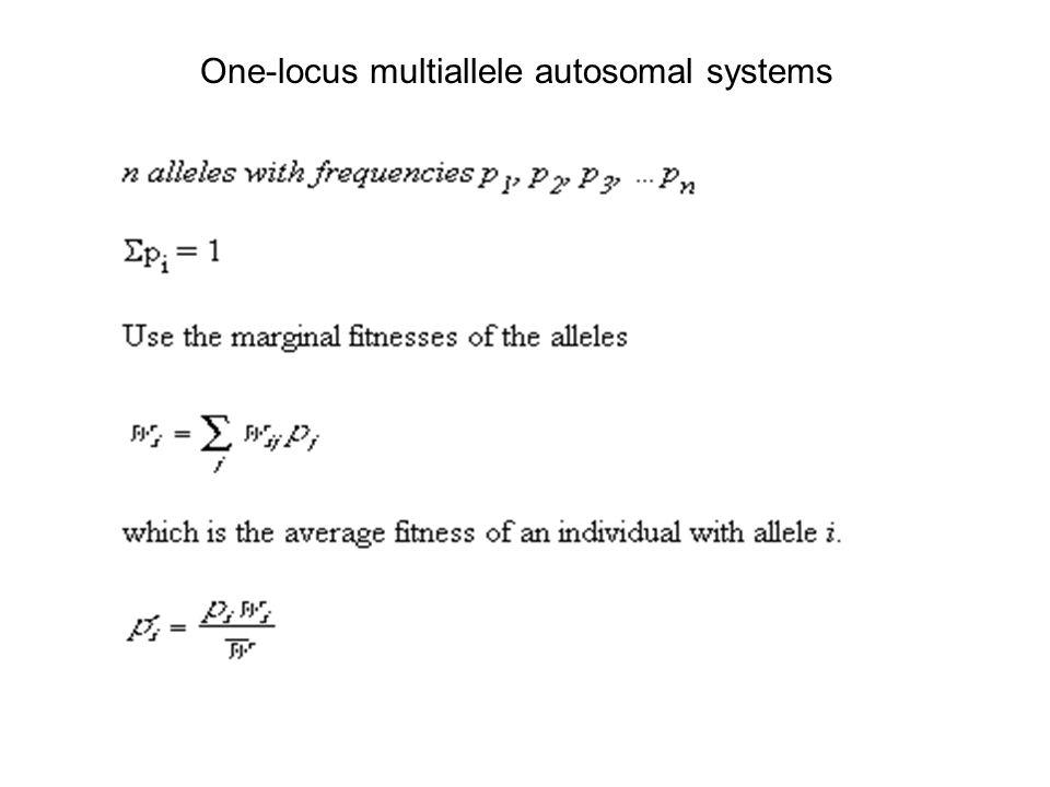 One-locus multiallele autosomal systems