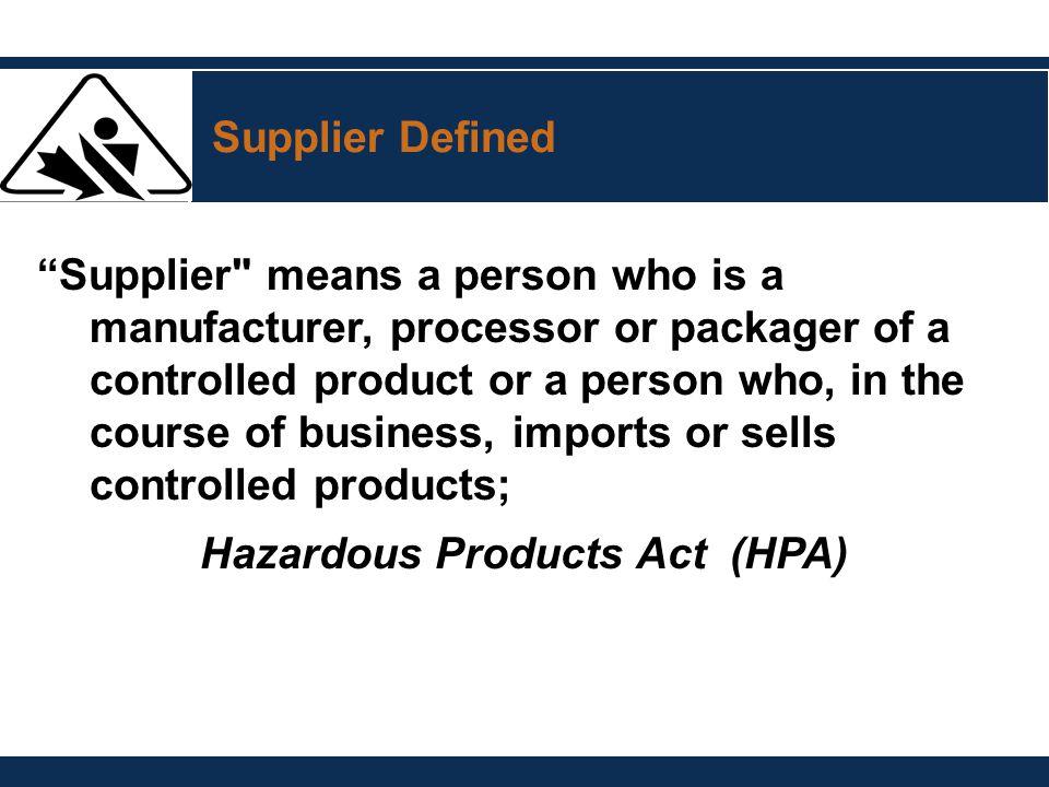 """Supplier Defined """"Supplier"""