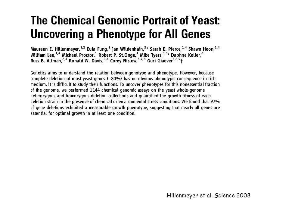 Hillenmeyer et al. Science 2008