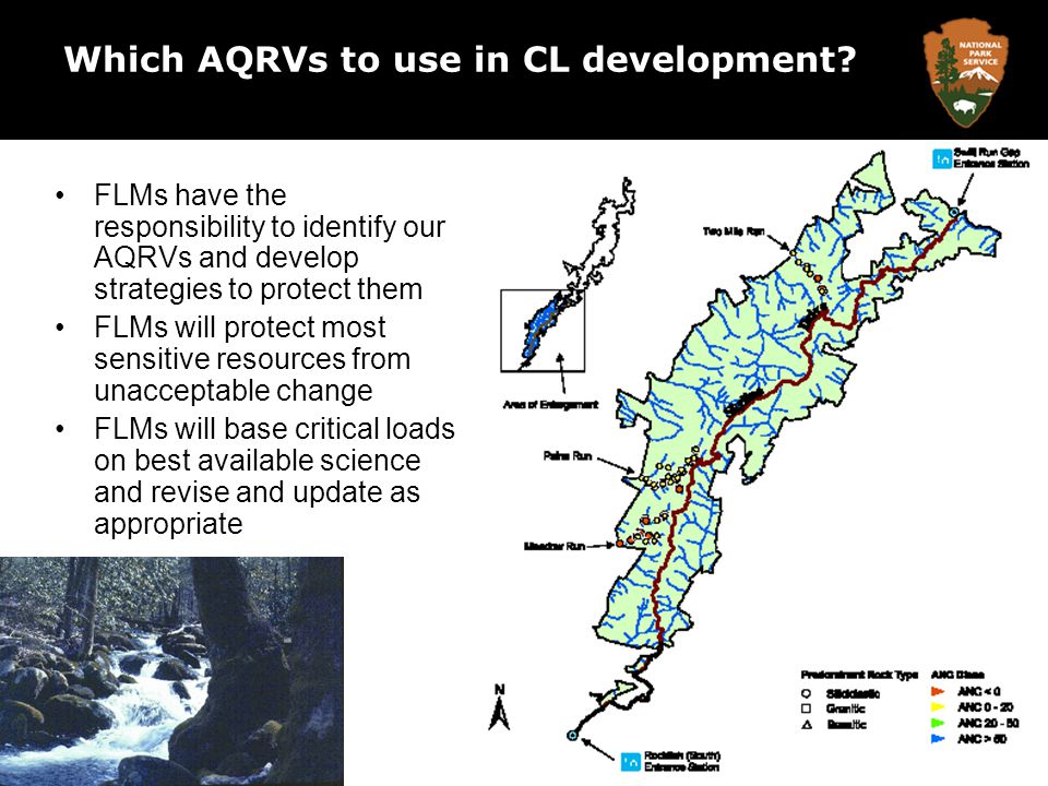 Which AQRVs to use in CL development.
