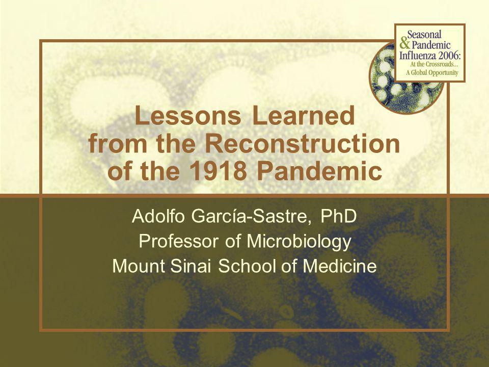 M-1918 NS-1918 Plasmid-only Influenza A Virus Rescue Transfection POL IR R R R R R R R vRNA expression plasmids PB2-1918 PB1-1918 PA-1918 HA-1918 NP-1918 NA-1918 POL II pA Protein expression plasmids PB2 PB1 PA NP Spanish flu