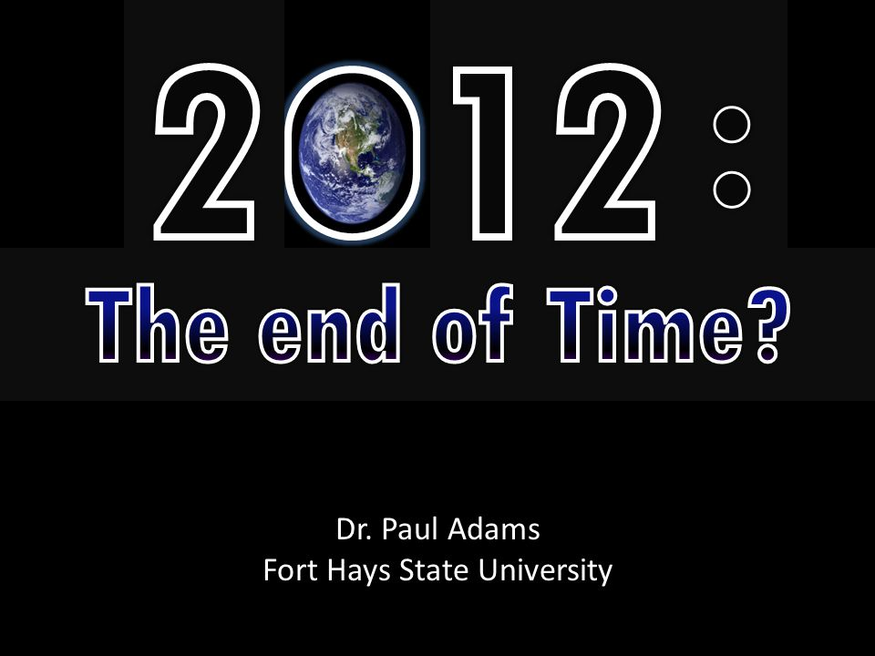Dr. Paul Adams Fort Hays State University