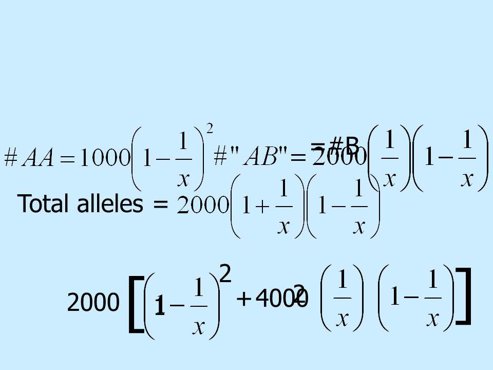 =#B Total alleles = 2000 4000+ 2 2 [ ] 1