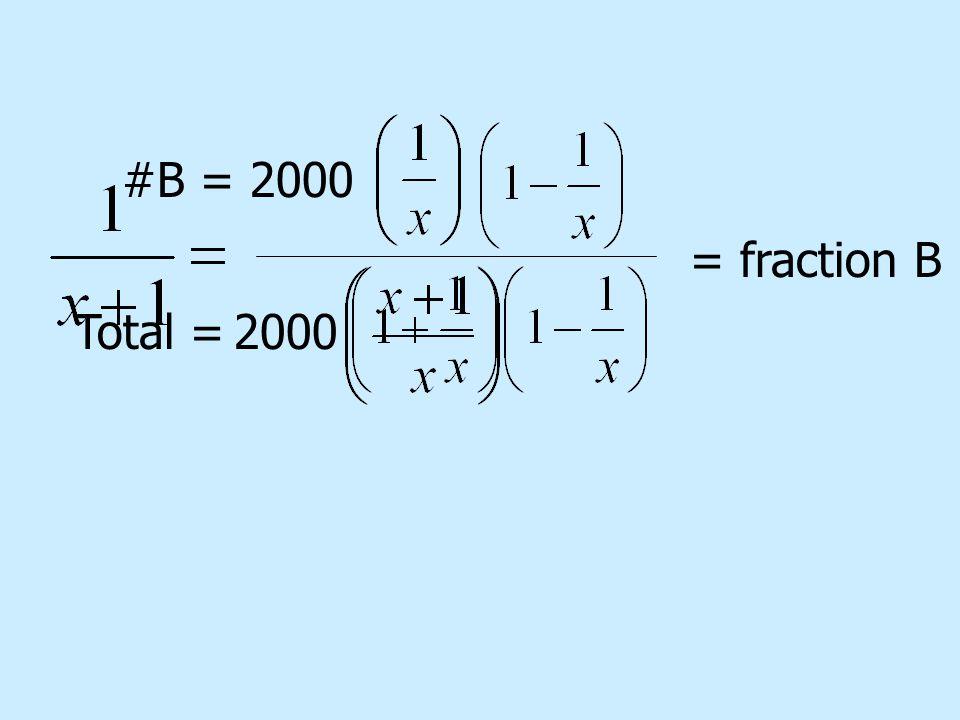 Total =2000 #B = = fraction B