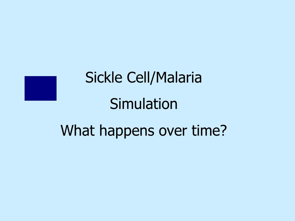 Sickle Cell/Malaria Simulation What happens over time