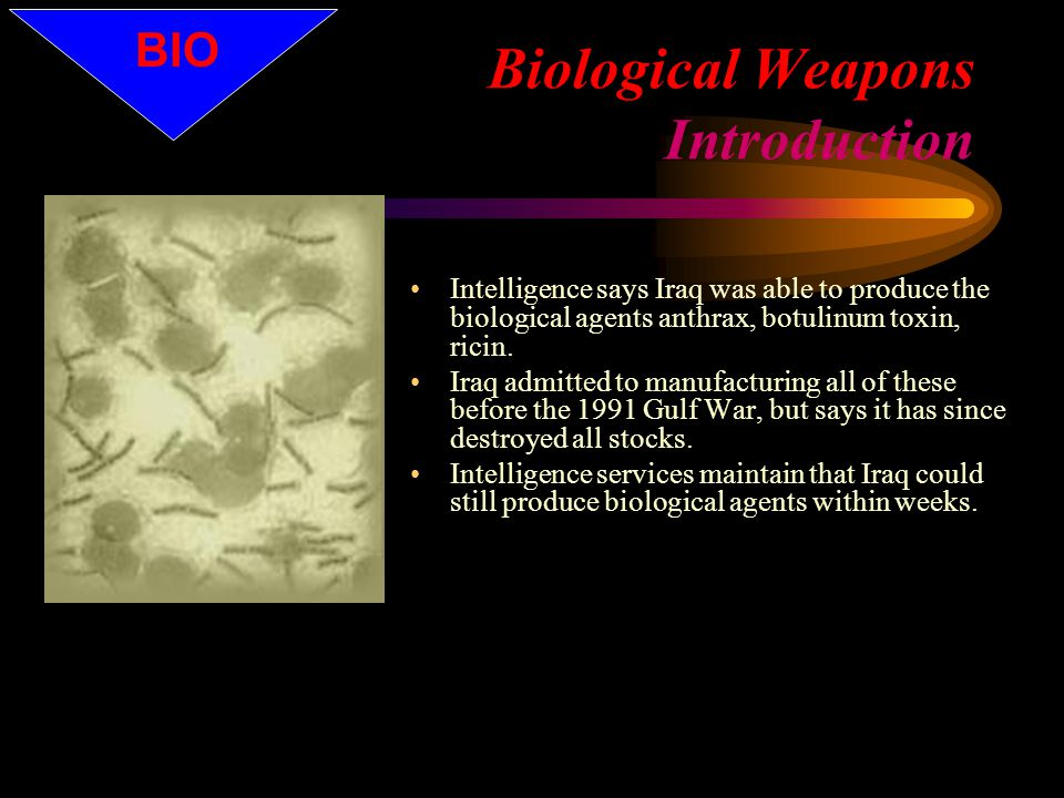 Radiological Dispersion Weapons (Dirty Bombs) Any weapon designed to disperse radioactive material without a nuclear explosion The hazard is from the Alpha, Beta, Gamma and Neutron radiation Could be as simple as a truck, ANFO, and parts of a university physics or medical radiology lab