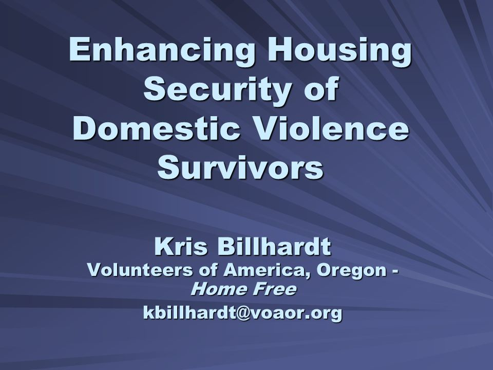 NAEH Annual Conference 7/10/07 Kris Billhardt, VOA Oregon - Home Free 22 Early Results 89% Obtained Housing 92% remain in housing Avg.