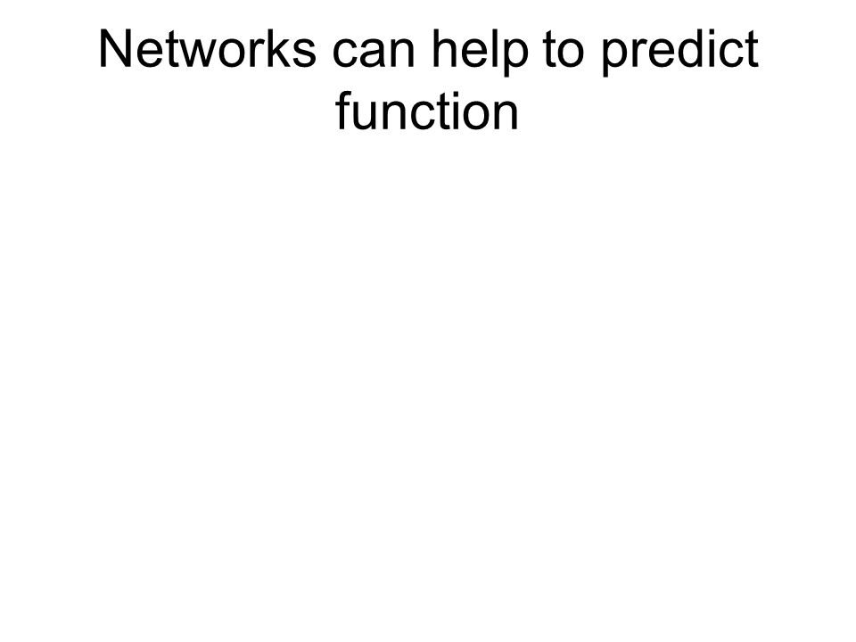 Networks can help to predict function