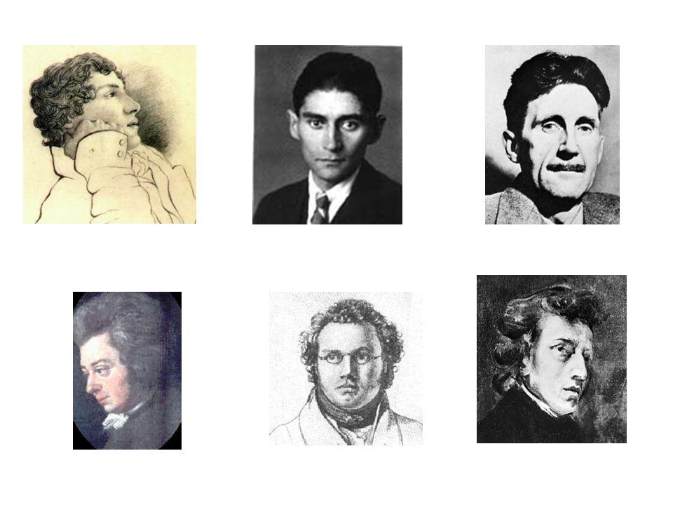 Keats (1795-1821)Kafka (1883-1924)Orwell (1903-1950) Mozart (1756-1791)Schubert (1797-1828) Chopin (1810-1849)
