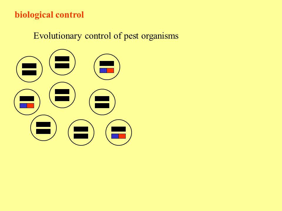 biological control Evolutionary control of pest organisms