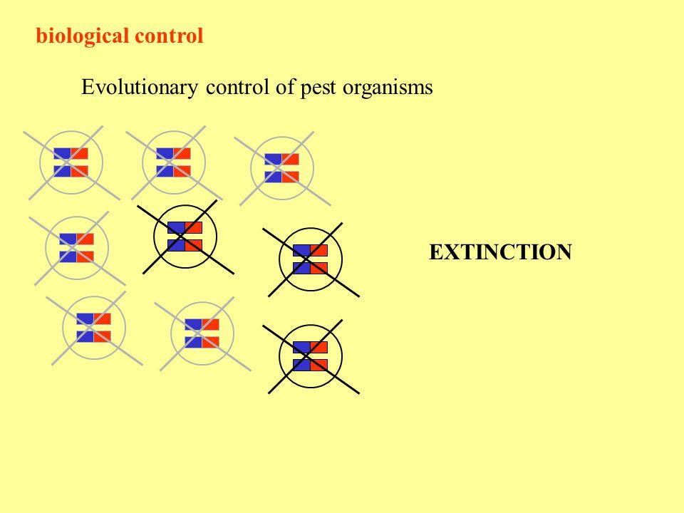 biological control Evolutionary control of pest organisms EXTINCTION