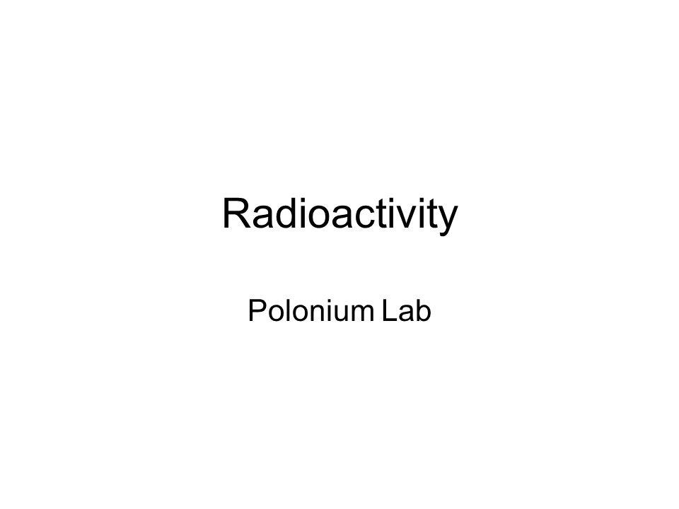 Radioactivity Polonium Lab