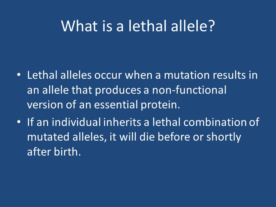 What is a lethal allele.