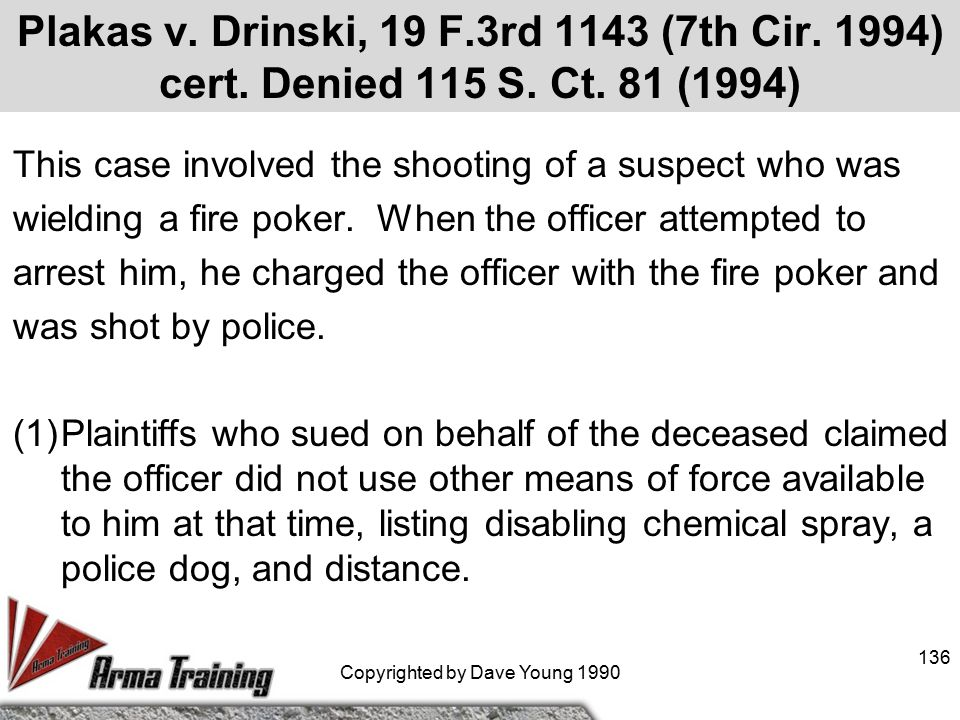 O'Neal v. DeKalb County, GA, 850, F.2d. 653 (11th Cir. 1988) a. A mental subject stabbed 7 people before being confronted by the police. After repeate
