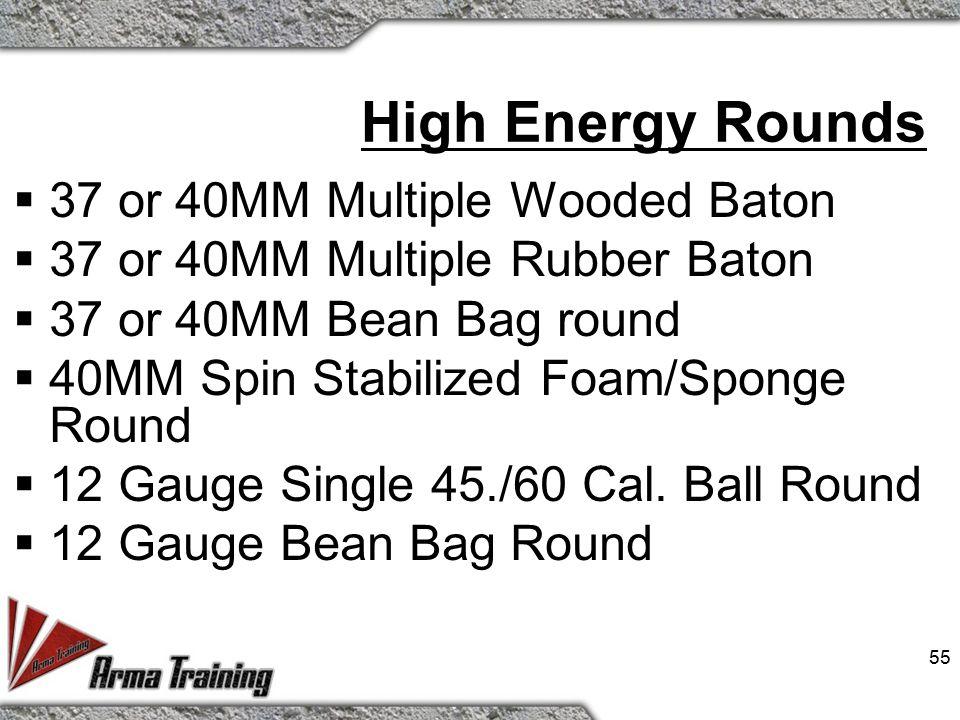 54 12 Gauge Rubber Pellets  Description - Cartridge, 12ga.. Sting Ball™®  Type - Multiple Projectile Rubber Pellets.  Velocity - 400 ft/sec (Avg.)