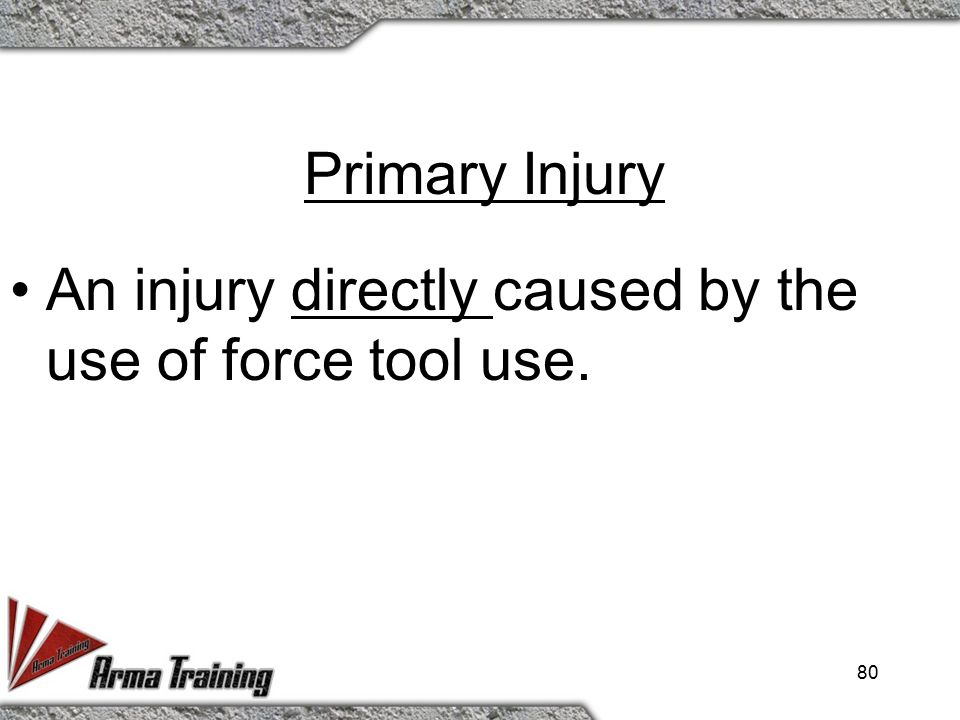 Primary vs. Secondary Injury