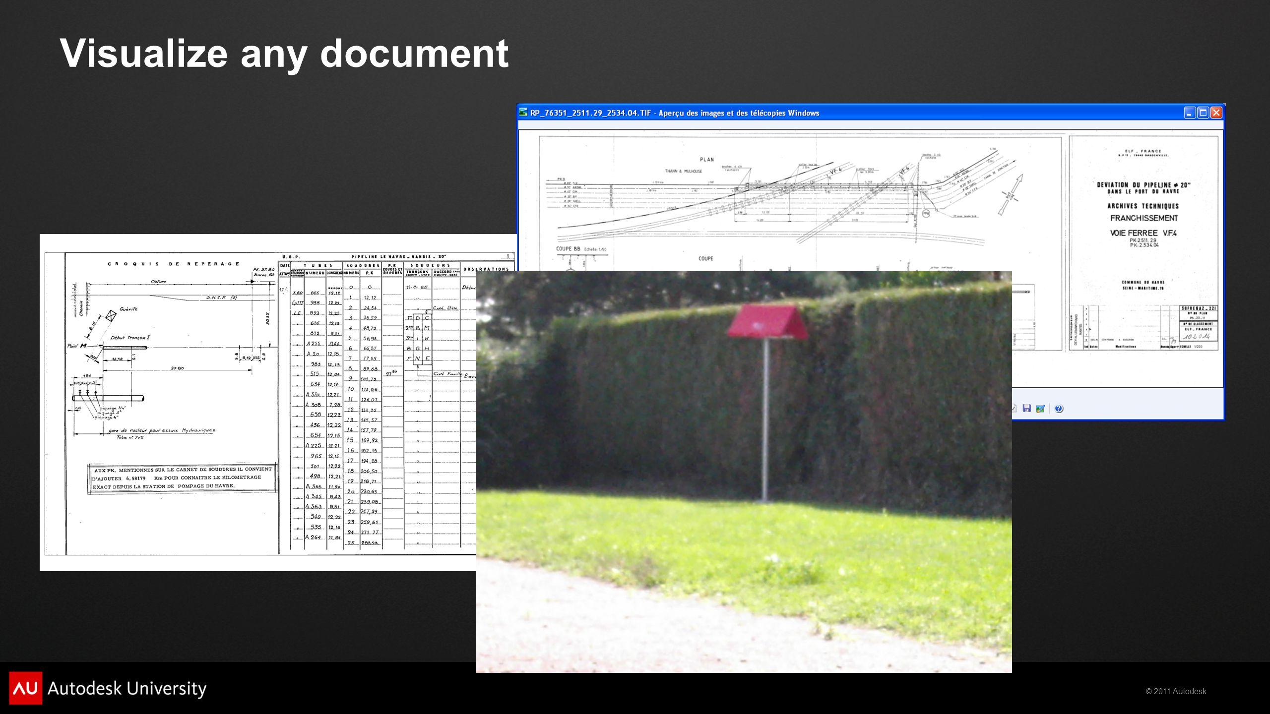 © 2011 Autodesk Visualize any document